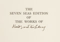 Books:Signed Editions, Rudyard Kipling. The Works of Rudyard Kipling. Garden City: Doubleday, Page & Company, 1914-1920.. Seven Seas ... (Total: 26 Items)
