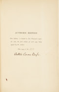Books:Signed Editions, Arthur Conan Doyle. The Works of Arthur Conan Doyle. London:John Murray, 1903 [i.e. 1917].. Author's edition. Num...