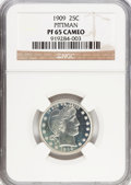 Proof Barber Quarters, 1909 25C PR65 Cameo NGC....