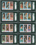 Basketball Cards:Lots, 1980-81 Topps Basketball SGC 96 MINT 9 Collection (8) With Bird andJohnson RC. ...