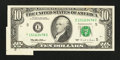Error Notes:Foldovers, Fr. 2031-E $10 1995 Federal Reserve Note. Extremely Fine-AboutUncirculated.. ...