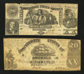 Confederate Notes:Group Lots, Two Different 1861 Confederate $20 Notes.. ... (Total: 2 notes)