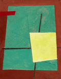 Post-War & Contemporary:Contemporary, EDUARD SHTEINBERG (Russian, b. 1937). Composition, 1981. Mixed media on board. 17-1/2 x 13-1/2 inches (44.5 x 34.3 cm). ...