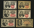 Fractional Currency:Fifth Issue, Six Fifth Issue Fractionals.... (Total: 6 notes)