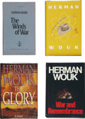 Books:Signed Editions, Herman Wouk. Four Signed Books, including: The Winds of War.[1971]. Uncorrected proof. [and:] War and Remembran... (Total: 4Items)