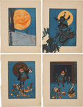 Antiques:Posters & Prints, W. W. Denslow. 20 Color Illustrations From The Night BeforeChristmas.... (Total: 20 Items)