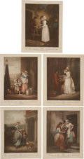 Antiques:Posters & Prints, Five Color Lithograph Illustrations by Francis Wheatley of 18th Century London Street Scenes.... (Total: 5 Items)