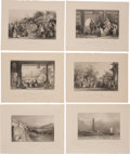Antiques:Posters & Prints, Six Detailed Engraved Illustrations Featuring Scenes of China Circa 1836.... (Total: 6 Items)