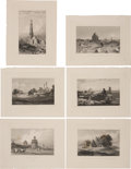 Antiques:Posters & Prints, Six Detailed Engraved Illustrations Featuring Scenes of Delhi Circa1836.... (Total: 6 Items)