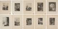 Antiques:Posters & Prints, Ten Engraved Illustrations of Pastoral Scenes and ArchitectureCirca 1844. 8.25 x 10.5 inches.... (Total: 10 Items)