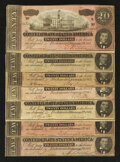 Confederate Notes:1864 Issues, T67 $20 1864.. ... (Total: 7 notes)