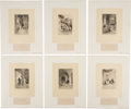 Antiques:Posters & Prints, Adolphe Lalauze. Proof Illustrations From Walter Scott'sWaverley Novels. Proof impressions for The Waverley N...(Total: 13 Items)