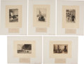 Antiques:Posters & Prints, Ten Proof Illustrations From Walter Scott's Waverley Novels.Proof impressions for The Waverley Novels, Connoi... (Total: 10Items)