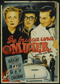 """Movie Posters:Comedy, Out of the Blue (Exclusivas Floralva, 1950s). Spanish One Sheet (27.5"""" X 39""""). Comedy. ..."""