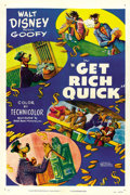 "Movie Posters:Animated, Get Rich Quick (RKO, 1951). One Sheet (27"" X 41""). ..."