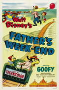 "Movie Posters:Animated, Father's Weekend (RKO, 1953). One Sheet (27"" X 41"")...."