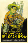"Movie Posters:Western, Mr. Logan, U.S.A. (Fox, 1919). One Sheet (27"" X 41""). ..."
