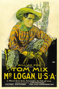 "Mr. Logan, U.S.A. (Fox, 1919). One Sheet (27"" X 41"")"