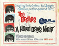 "Movie Posters:Rock and Roll, A Hard Day's Night (United Artists, 1964). Half Sheet (22"" X 28"")...."