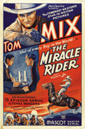 """Movie Posters:Serial, The Miracle Rider (Mascot, 1935). One Sheet (27"""" X 41""""). ..."""
