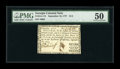 Colonial Notes:Georgia, Georgia September 10, 1777 $1/2 PMG About Uncirculated 50....