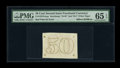 Fractional Currency:Second Issue, Milton 2E50R.4e 50¢ Second Issue Experimental PMG Gem Uncirculated65 EPQ....