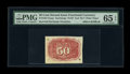 Fractional Currency:Second Issue, Milton 2E50R.4b 50¢ Second Issue Experimental Invert PMG Gem Uncirculated 65 EPQ....