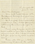 """Autographs:U.S. Presidents, James A. Garfield Autograph Letter Signed """"J. A. Garfield"""". Two pages, 7.75"""" x 9.75"""", Washington, June, 11, 1872 to ..."""