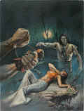Original Comic Art:Covers, Boris Vallejo - Tales of the Zombie #3 Cover Painting Original Art (Marvel, 1974)....
