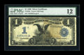 Large Size:Silver Certificates, Fr. 229a $1 1899 Silver Certificate PMG Fine 12....