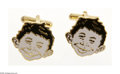 Memorabilia:Mad, Alfred E. Neuman Cuff Links (EC, 1994). Here's one of very few known sets of these promotional cuff links, which were given ...