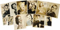 """Movie/TV Memorabilia:Autographs and Signed Items, Twelve Vintage Signed Hollywood Stars Photos. Set of 12 signedb&w photos includes 8"""" x 10"""" shots of Sid Caesar, RobertWagn... (Total: 1 Item)"""