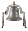 Bronze:American, An American Bronze Bell. McShane Bell Foundry, USA. 1894. CastBronze . Bell embossed with symbol of foundry . 44 inches h...