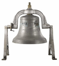 An American Bronze Bell  McShane Bell Foundry, USA 1894 Cast Bronze Bell embossed with symbol of foun