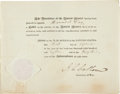 "Autographs:Statesmen, John Calhoun Partly Printed Document Signed as Secretary of War.One page, approximately 10"" x 8"", Washington. D.C., Septemb..."