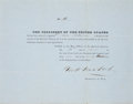 "Autographs:Statesmen, George W. Crawford Partly Printed Document Signed as Secretary ofWar. One page, 10"" x 8"", on pale blue paper, Washingto..."