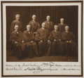 Autographs:U.S. Presidents, William H. Taft Supreme Court Photograph Signed by All Nine Justices, ca. 1921, shortly after President Warren Harding a...