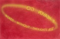 EDWARD RUSCHA (American, b. 1937) Golden Words, 1985 Pigment and acrylic on paper 36 x 58 inches