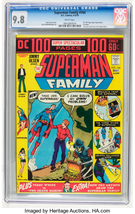 The Superman Family #164 (DC, 1974) CGC NM/MT 9.8 White pages....