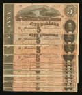 Confederate Notes:1864 Issues, T69 $5 1864.. ... (Total: 14 notes)