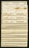 Obsoletes By State:Texas, Austin, TX- Treasurer of the State Texas Various Hand-written Denominations 1861 Cr. 64 Medlar 140 Fifty Examples. ... (Total: 50 notes)