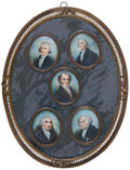 Political:3D & Other Display (pre-1896), Martin Van Buren: Spectacular Wall Plaque IncorporatingHand-Painted Miniatures on Ivory. ...