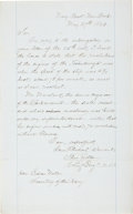 "Autographs:Military Figures, USS Ticonderoga: Chief Naval Engineer Theodore Zeller Autograph Letter Signed. One page, 13.5"" x 8.5"", ""Navy Y..."