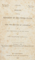 Books:First Editions, [James K. Polk]. [Mexican War]. Message from the President ofthe United States, to the Two Houses of Congress, at the C...