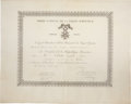 "Autographs:Non-American, Joseph Vinoy Document Signed. One partially-printed vellum page (inFrench), 21"" x 17"", November 20, 1875, appointing Clarke..."