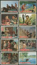 Non-Sport Cards:Sets, 1956 Topps Davy Crockett, Orange Backs Near Set (69/80). ...