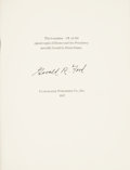 Books:Signed Editions, Gerald Ford Signed and Numbered Limited Edition Book: Humor andthe Presidency. Ultramarine Publishing Co., Inc. 198...