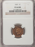 Proof Indian Cents: , 1869 1C PR64 Red and Brown NGC. NGC Census: (38/41). PCGS Population (66/35). Mintage: 600. Numismedia Wsl. Price for probl...