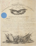 """Autographs:U.S. Presidents, Andrew Johnson Military Appointment Signed as president and countersigned by Secretary of War Edwin Stanton (""""E. M. Stanto..."""