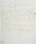 """Autographs:U.S. Presidents, Abraham Lincoln Autograph Letter Signed. One page, 7.75"""" x 9.5"""", Springfield Illinois, June 9, 1857. Addressed to Charles A..."""